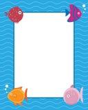 Frame met beeldverhaalvissen Royalty-vrije Stock Foto's