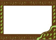 Frame met bladeren Stock Afbeeldingen