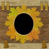 Frame met de herfstbladeren Royalty-vrije Stock Foto