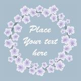 Frame met de lentebloemen royalty-vrije illustratie