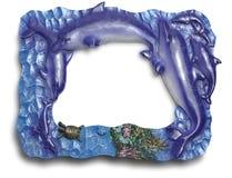 Frame met delphins Royalty-vrije Stock Fotografie