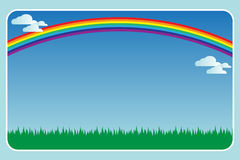 Frame met een regenboog vector illustratie