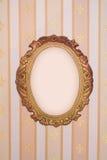 Frame met exemplaar-ruimte op uitstekend behang Stock Foto