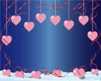 Frame met harten stock illustratie