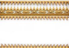 Frame met het Thaise patroon van de kunstmuur Stock Foto