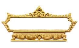 Frame met het Thaise patroon van de kunstmuur Royalty-vrije Stock Afbeeldingen