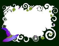 Frame met hoed royalty-vrije illustratie