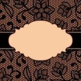 Frame met kantbloemen Royalty-vrije Stock Afbeeldingen
