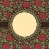 Frame met kantbloemen Stock Afbeeldingen