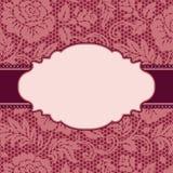 Frame met kantbloemen Royalty-vrije Stock Foto