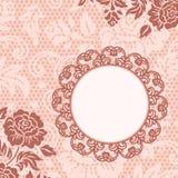 Frame met kantbloemen Royalty-vrije Stock Afbeelding