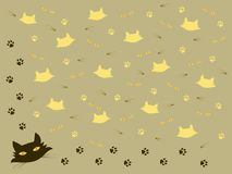 Frame met kattenthema stock illustratie