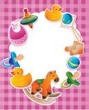 Frame met kinderenspeelgoed Royalty-vrije Stock Fotografie
