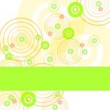 Frame met kleurencirkels royalty-vrije illustratie