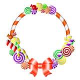 Frame met kleurrijk suikergoed. Royalty-vrije Stock Fotografie