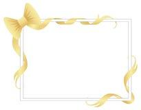 Frame met linten en boog Royalty-vrije Stock Foto
