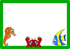 Frame met mariene dieren Stock Afbeelding