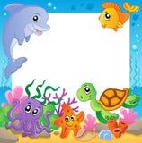 Frame met onderwaterdieren 1 Royalty-vrije Stock Afbeeldingen