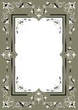 Frame met Oostelijk decor op een groenachtige grijze backgr Stock Afbeeldingen