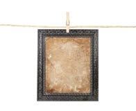 Frame met oud document op een lijn Royalty-vrije Stock Foto's