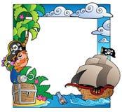 Frame met overzees en piraatthema 2 Royalty-vrije Stock Fotografie