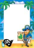 Frame met piraat 2 Stock Foto
