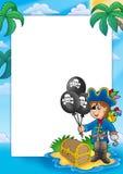 Frame met piraatjongen Stock Foto