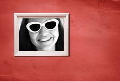Frame met retro portret Stock Afbeeldingen
