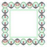 Frame met Roemeens traditioneel thema royalty-vrije illustratie