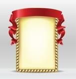 Frame met rood lint Stock Foto's