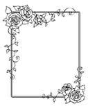 Frame met rozen Stock Afbeeldingen