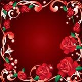 Frame met rozen. Stock Afbeelding
