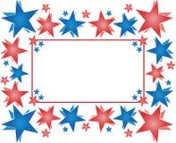 Frame met sterren - Gelukkige 4 van Juli Stock Foto's