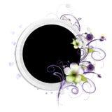 Frame met stoffenbloemen royalty-vrije illustratie