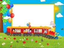 Frame met trein Stock Afbeeldingen