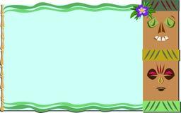 Frame met Tropisch Tikis en Bamboe stock illustratie