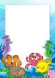Frame met tropische vissen 2 Stock Foto