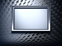 Frame on metal background Royalty Free Stock Images
