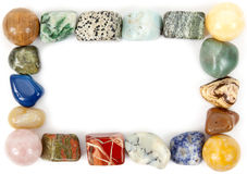 Frame with mineral stones Royalty Free Stock Image