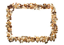 Frame of Mixed Nuts Royalty Free Stock Images