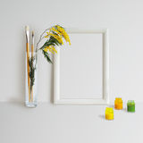 Frame Mock Up with Mimosa Stock Images