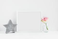 Frame Mockup Floral styled stock photograph Royalty Free Stock Photos