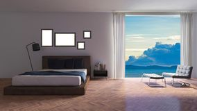 3ds rendered image of seaside room Royalty Free Stock Photography