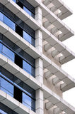 Frame of modern building. Frame detail of a modern building, full of geometry, line, block, third dimension and color balance Royalty Free Stock Photo