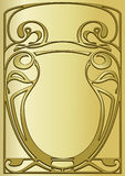 Frame of modernist style. Design of a vector background in vintage style Royalty Free Stock Images