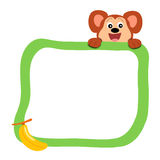Frame with monkey royalty free stock photography