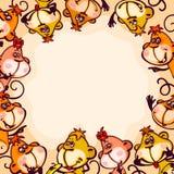 Frame monkey Royalty Free Stock Photo