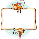 Frame 2016 monkey. Chinese zodiac new year  frame 2016 with the monkey Royalty Free Stock Photography