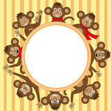 Frame with monkey EPS 10 in vector Royalty Free Stock Photography