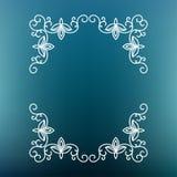 Frame mono line. Vector mono line frame. Art deco monogram design template Royalty Free Stock Photos